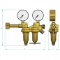 Two Stage Regulators for Non Flammable Gases